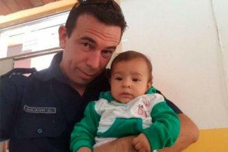 Policía salvó a una bebé de morir ahogada