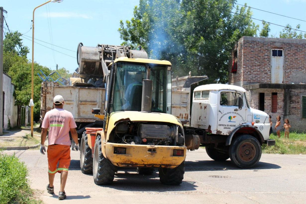 El operativo de bloqueo en barrio Hipódromo.