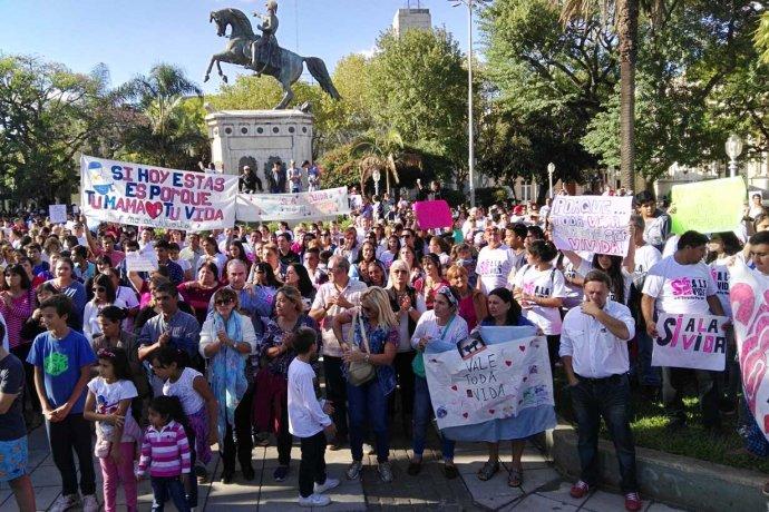 """Concordia por la Vida sale a la calle con un mensaje a los candidatos: """"Con aborto no te voto"""""""