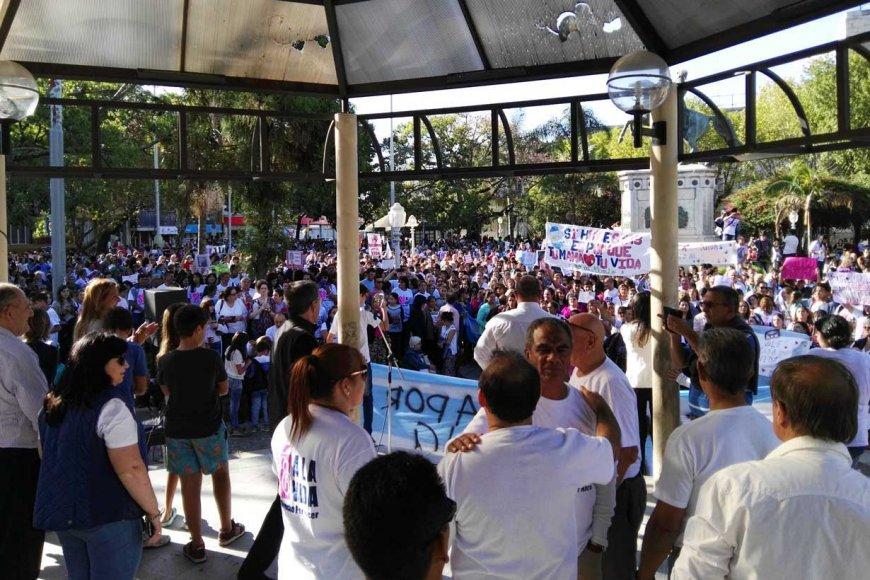 La marcha pro vida en Concordia fue masiva
