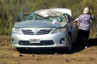 Volcaron en Uruguay: cinco personas resultaron heridas
