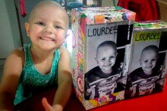 Piden ayuda para que la pequeña Lourdes pueda ganarle al cáncer
