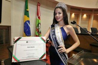 Fue elegida Miss Mercosur, con la misión de estrechar vínculos