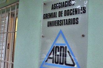 La Asociación Gremial de Docentes Universitarios convocó a un paro