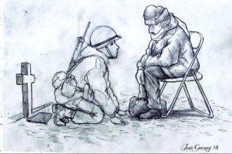 """Él estaba ahí"": Conmovedor homenaje de un entrerriano a un héroe de Malvinas"
