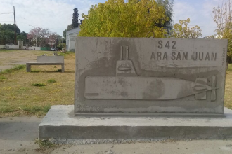 Construyeron el primer monumento entrerriano del ARA San Juan