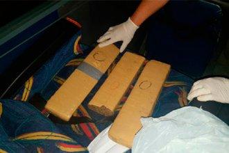 Gendarmería secuestró droga que ingresaba desde Uruguay