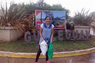 """Más de 60 mil """"Me Gusta"""" para Lucía, la maestra jardinera que recorre 320 km por día para ir a trabajar"""