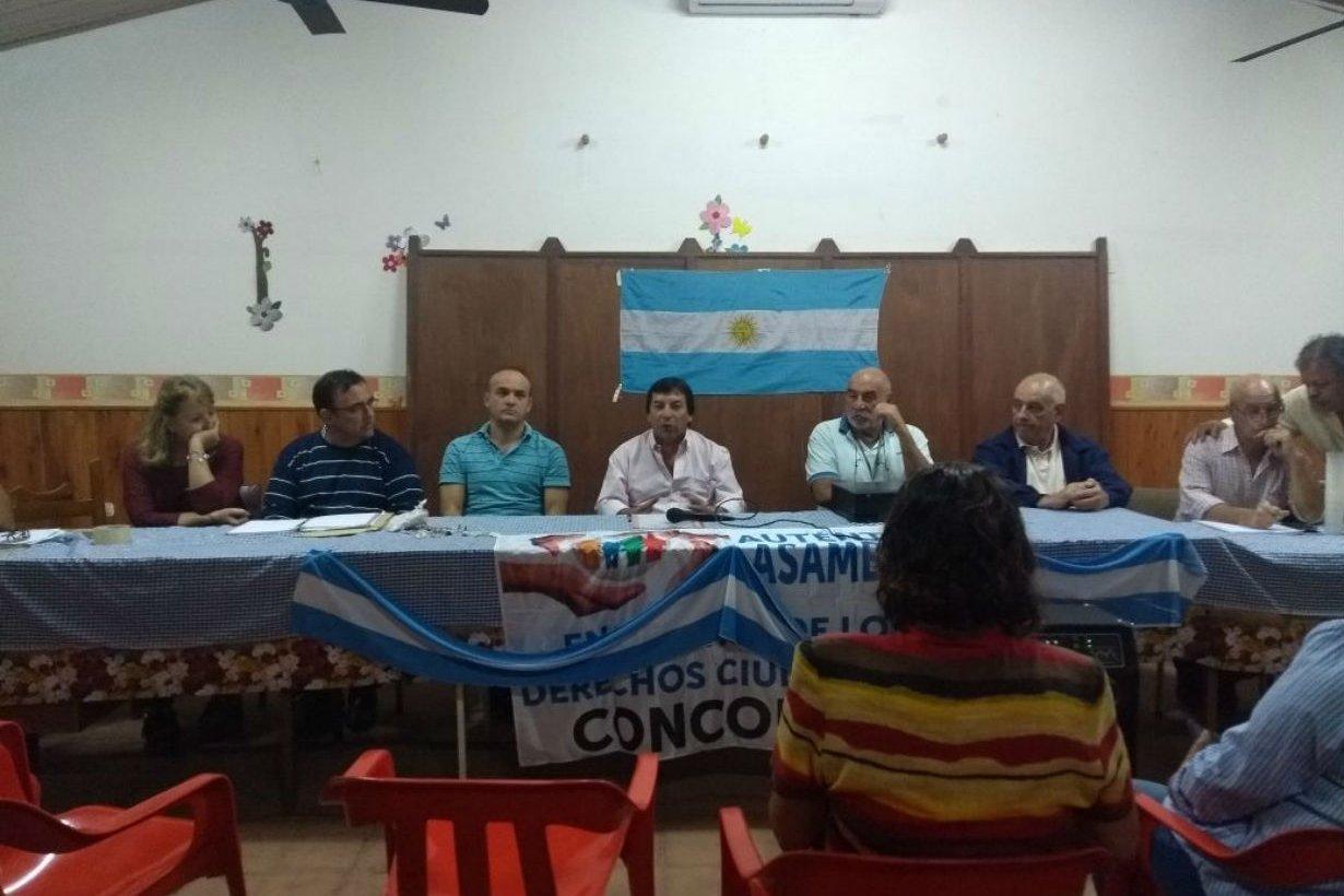 Anoche fue la asamblea, en Concordia.