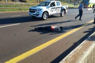 Murió atropellado por un camión el acusado de robarle a gerente del Banco Entre Ríos