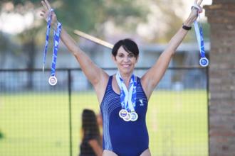 Una nadadora entrerriana cosechó seis medallas en Colombia