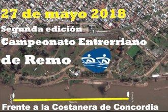 Concordia será sede en mayo del Campeonato Entrerriano de Remo