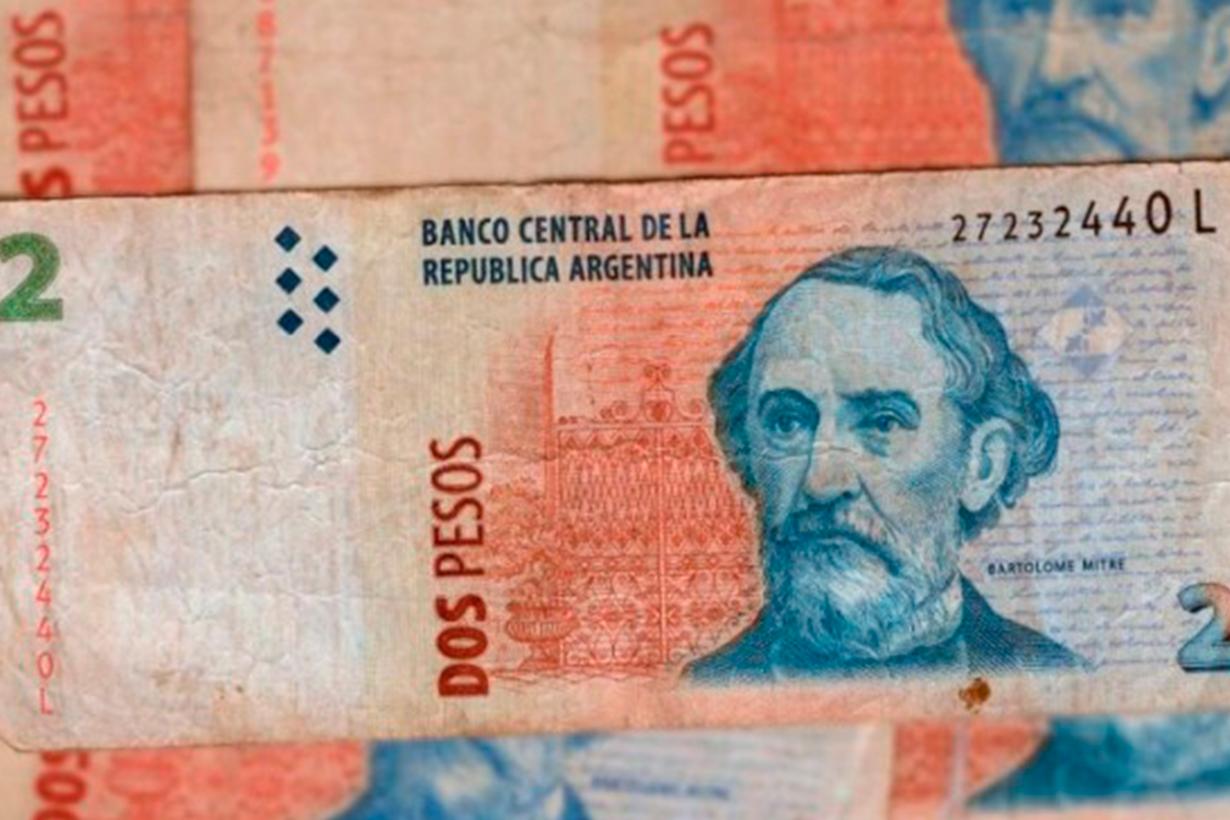 Este lunes dejan de tener validez los billetes de 2 pesos