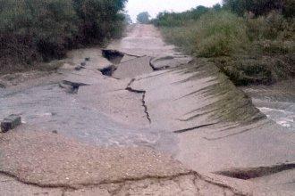 Histórica calzada, destruida después de la lluvia