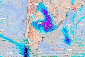 "Entre Ríos, en zona de alerta por ""ciclogénesis"""