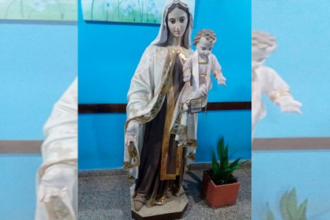 Intentaron robar una virgen de casi dos metros de un cementerio entrerriano