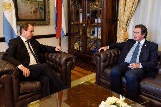 Bordet y Castrillón acordaron obras para el Poder Judicial