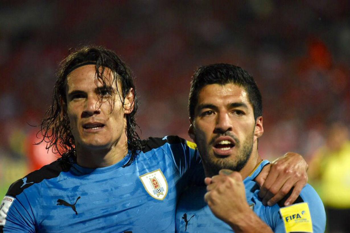 Cavani y Suárez, la dupla con más goles.