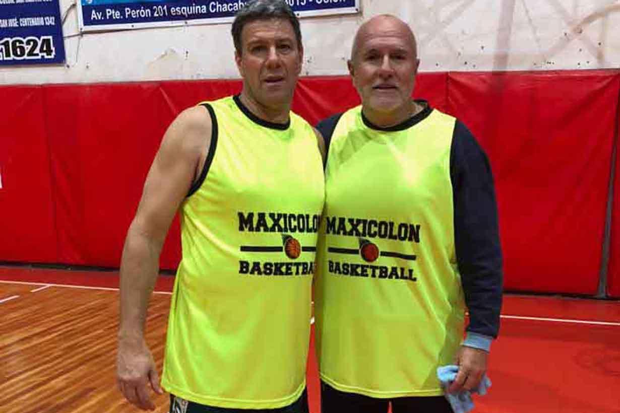 Danilo Sigot y Mario Fábregas, parte del plantel.