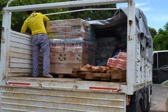 Brindaron asistencia a los más de 30 hogares afectados por la tormenta