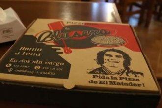 """El amor por """"El Matador"""" que volvió en forma de pizza"""