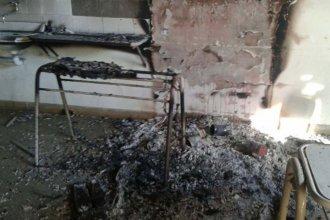 En menos de un mes, tres incendios en una escuela