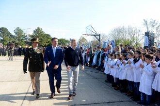 Frigerio visitó Pueblo Belgrano en el Día de la Bandera