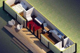 Termas Villa Elisa convertirá containers marítimos en alojamientos turísticos