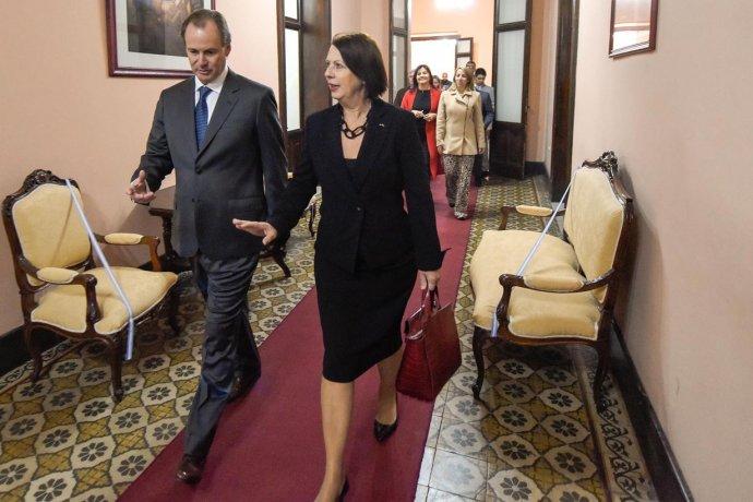 Bordet recibió a la embajadora de Eslovenia, con quién habló de futuras inversiones en Entre Ríos