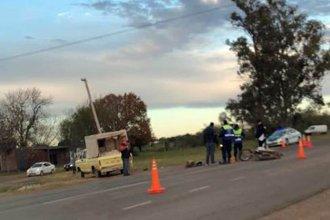 Motociclista grave tras una colisión