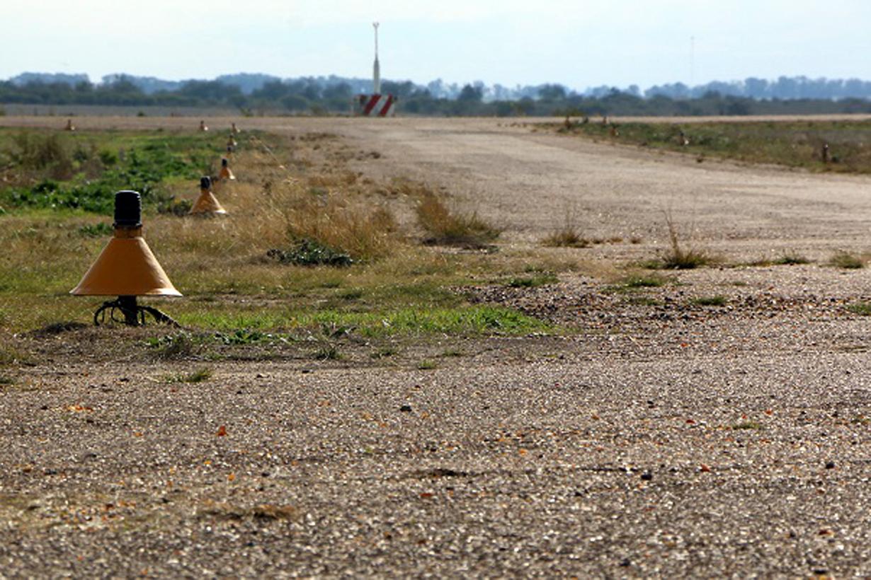 Así está la pista de aterrizaje