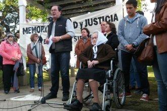 """""""Por 40 años hablé por los desaparecidos y hoy me toca hablar delante de él"""""""