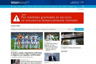 Despidos en Télam: limitaron los contenidos en su página web