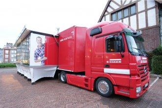 De Europa a Entre Ríos: Cómo es el mágico camión que usa Egger para mostrar sus productos