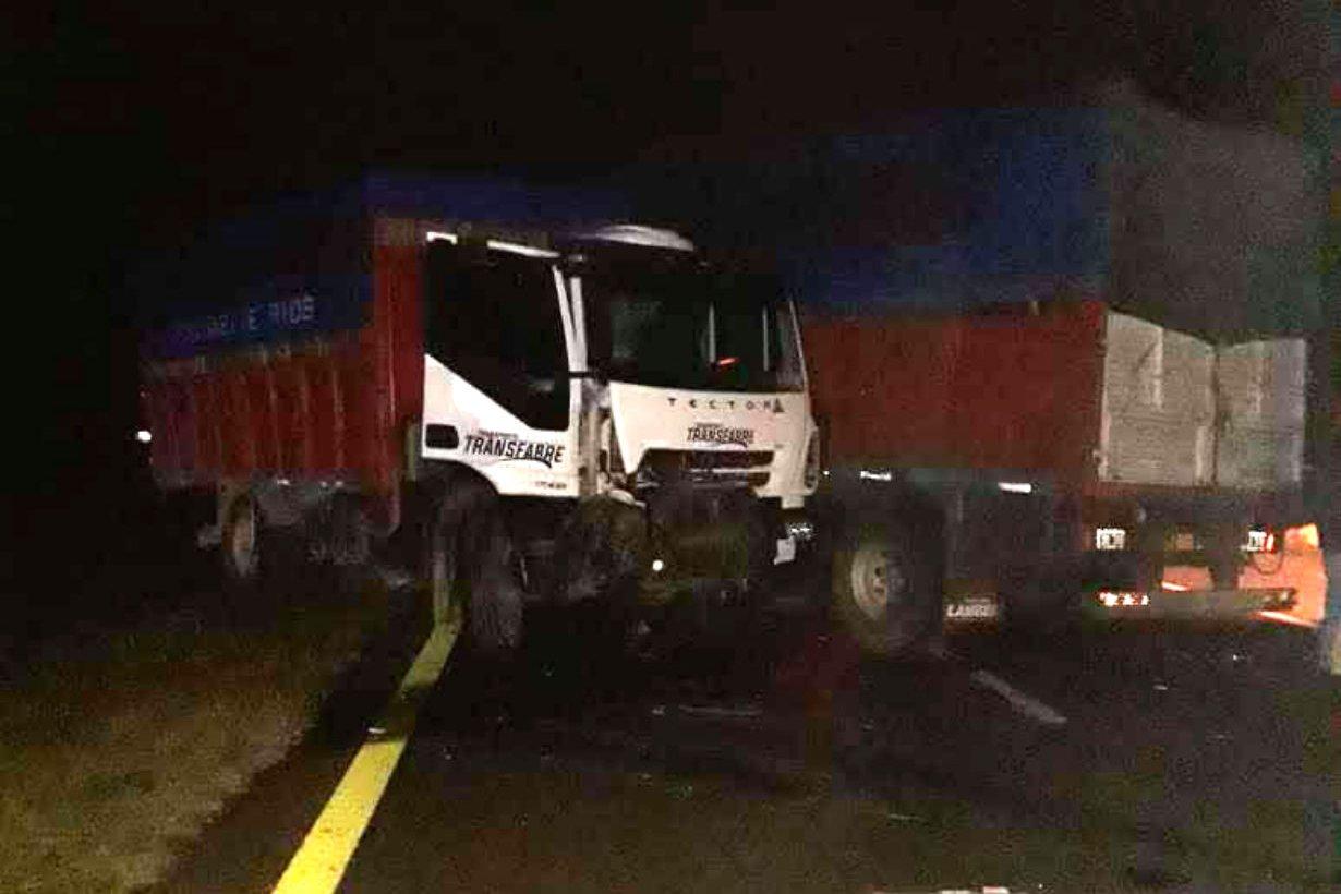Así quedó el camión manejado por un entrerriano.