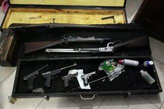 Allanaron una vivienda y encontraron un arsenal