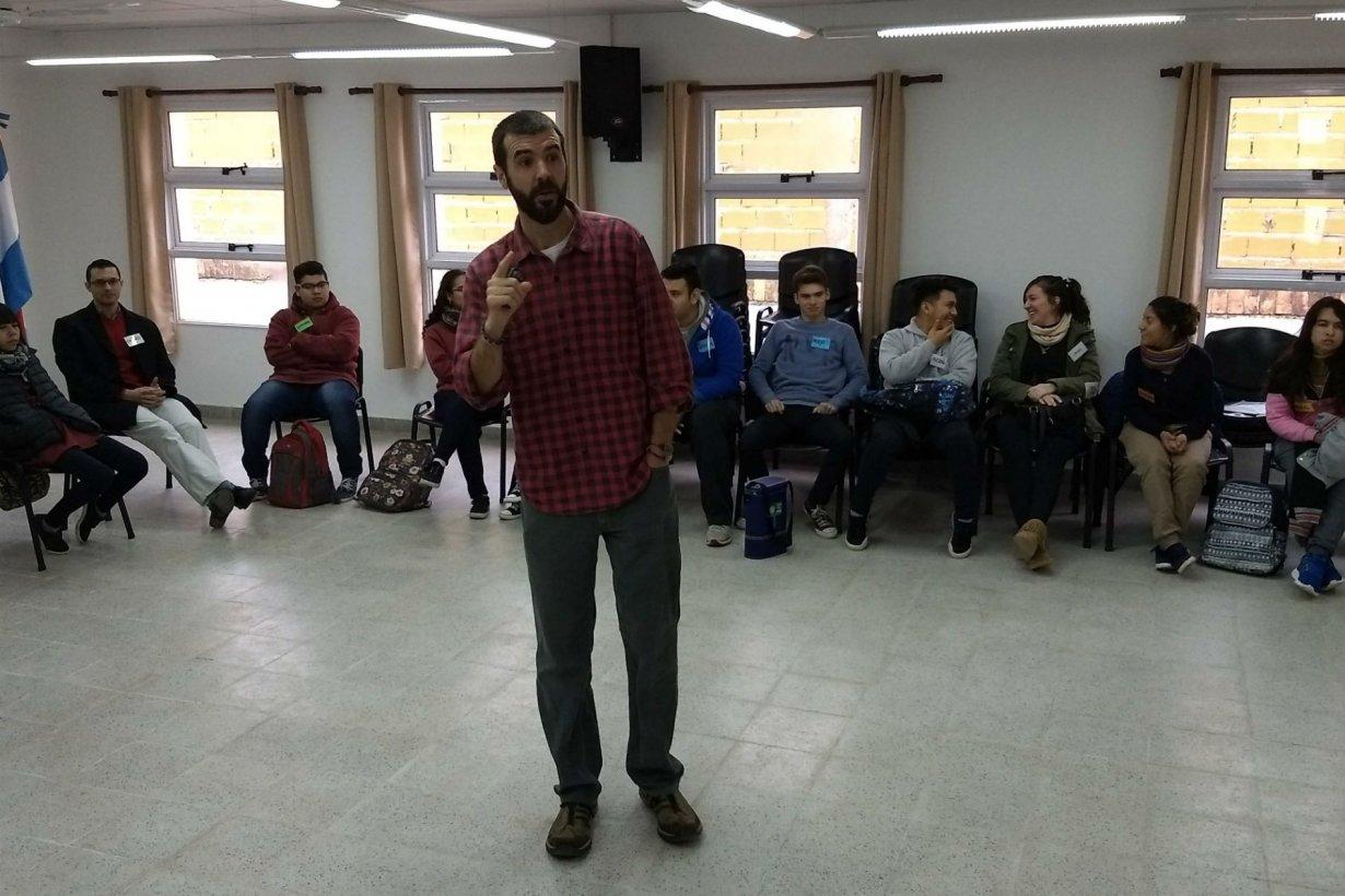 Vedoya, en la charla con los estudiantes.