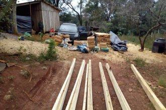 Descubrieron casi 2000 kilos de marihuana dentro de tirantes de madera