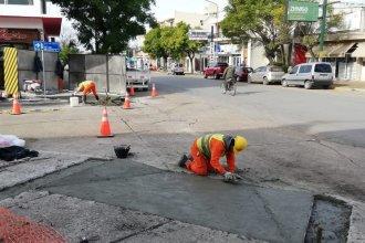 Avanza la construcción de rampas  de accesibilidad en calle 9 de Julio de Concepción