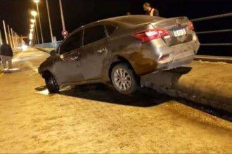 Hubo un peligroso accidente sobre el puente internacional de Salto Grande