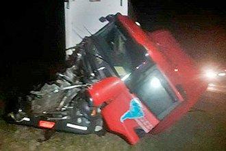 Por la escasa visibilidad, tres camiones chocaron en Autovía Artigas