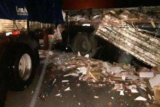 Triple choque obstaculizó el tránsito en la autovía