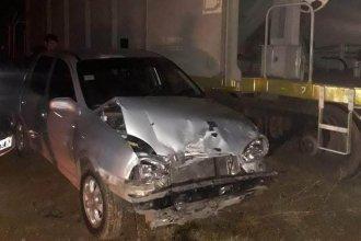 Milagro: chocó contra una locomotora y salió ileso