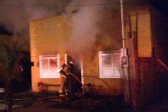 Un brasero provocó el incendio de una vivienda