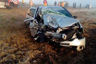 Choque y vuelco en ruta entrerriana dejó cuatro hospitalizados