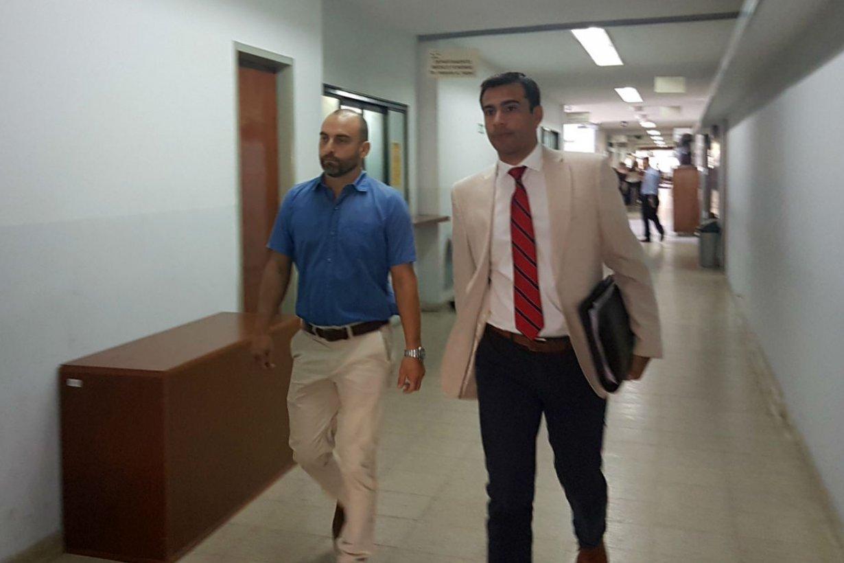 Germán Buffa, en Tribunales.