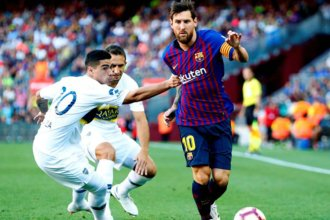 Boca no tuvo chances ante el implacable Barcelona de Messi