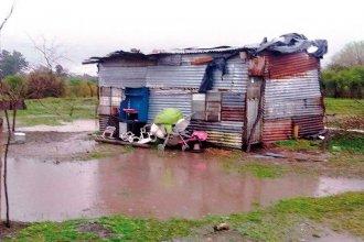 El temporal provocó anegamientos en barrios de Concepción del Uruguay