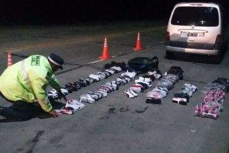 Secuestraron zapatillas, ingresadas de contrabando por tres santafecinos