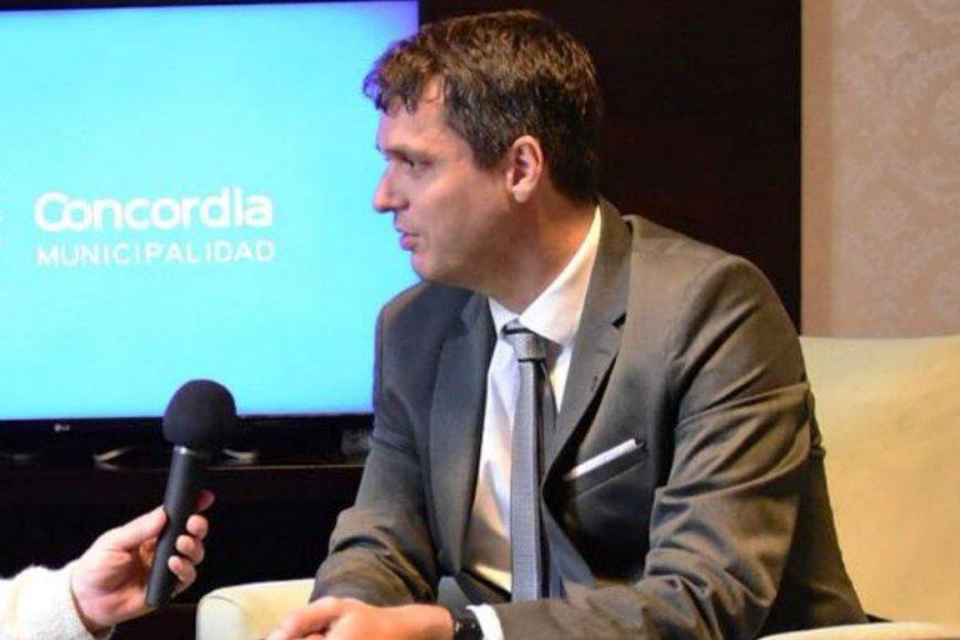 Enrique Cresto, intendente de Concordia.